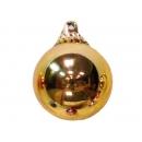 y02581-裝飾球-亮面球.亮光球(金色)15CM