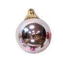 y02584-裝飾球-亮面球.亮光球(銀色)7CM-6入