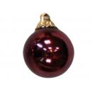 y02585-裝飾球-亮面球.亮光球(豆沙色)8cm-6入