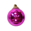 y02586-裝飾球-亮面球.亮光球(粉紅色)10cm
