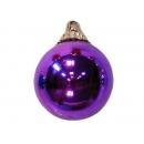 y02587-裝飾球-亮面球.亮光球(紫色)15cm