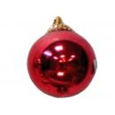 y02588-裝飾球-亮面球.亮光球(紅色)20CM