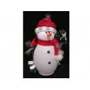 y02594-玩偶-紅帽雪人