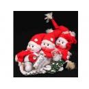 y02595-玩偶-雪橇紅帽三雪人
