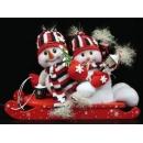 y02597-玩偶-雪橇花帽雪人