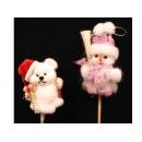 y02618-玩偶-小熊插飾.雪人插飾
