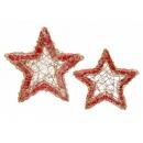 y02754-架構-藤編瓊麻空星壁飾(紅)