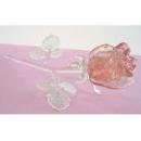 夜光琉璃水晶玫瑰(紅) y03262 水晶飾品系列-琉璃水晶