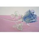 夜光琉璃水晶玫瑰(藍) y03263 水晶飾品系列-琉璃水晶