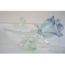 夜光琉璃水晶玫瑰(水藍) y03264 水晶飾品系列-琉璃水晶