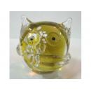 琉璃貓頭鷹 y03275 水晶飾品系列-琉璃水晶