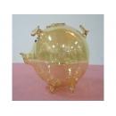 玻璃豬(黃) y03293 水晶飾品系列