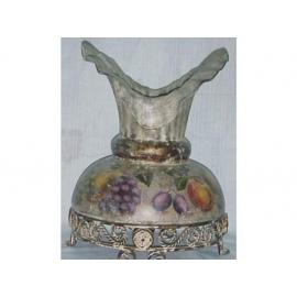 y03315 裂紋玫瑰花器-裂紋水果大肚花瓶
