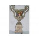 y03316 裂紋玫瑰花器-裂紋水果冠軍杯
