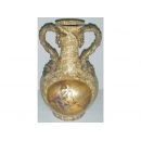 y03320 裂紋玫瑰花器-描金花瓶