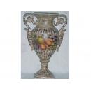 y03321 裂紋玫瑰花器-裂紋水果大耳花瓶