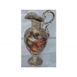 y03322 裂紋玫瑰花器-裂紋水果單耳花瓶