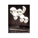 亮白 多面人像 y03424  立體雕塑.擺飾 立體擺飾系列-幾何、抽象系列
