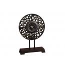 圓盤時鐘 y03589 時鐘.溫度計.鏡子 立鐘(無庫存)