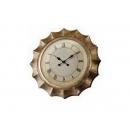 銀箔掛鐘 y03607 時鐘.溫度計.鏡子 溫度計.壁掛鐘