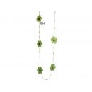 y03088-布品家飾-布品擺飾-五瓣花吊串(綠)