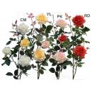 y03716-花材花藝果樹-花材-玫瑰(白、黃、粉、紅)