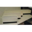 y03762 花器-木器花器-白色造型花器四件組(無庫存)