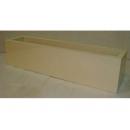 y03763 花器-木器花器-米白色長型花器