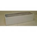 y03764 花器-木器花器-白色長型花器161