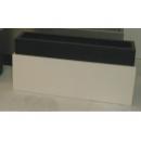 y03765 花器-木器花器-黑白相間長型花器125(無庫存)