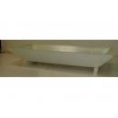 y03767 花器-木器花器-白色槽型花器142