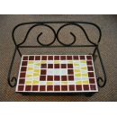 y03823 鐵材藝術-馬賽克系列-馬賽克長椅造型擺飾