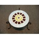 y03824 鐵材藝術-馬賽克系列-馬賽克圓桌造型擺飾