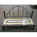 y03825 鐵材藝術-馬賽克系列-馬賽克長椅造型擺\飾(大)