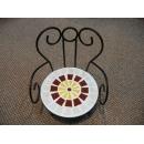 y03827 鐵材藝術-馬賽克系列-馬賽克圓椅造型擺飾