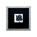 y03917(版畫) 荷花-黑色面板-1