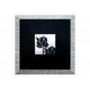 y03918(版畫) 荷花-黑色面板-2