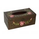 y03923 裂紋古典玫瑰面紙盒