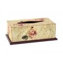 y03928 古典玫瑰(單枝)面紙盒