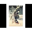 y09506 複製畫 Hiroshige-Snow Scene in the Garden of a Daimyo, pa