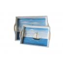 蔚藍海岸長方托盤 y09559 立體雕塑.擺飾 立體雕塑系列-人物雕塑系列