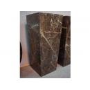 y09691羅馬柱花台展示台-大理石展示台(咖啡色) 80cm