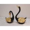黑金天鵝/一對 y09785 立體雕塑.擺飾 立體擺飾系列-動物、人物系列