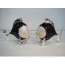 黑銀色雙魚座擺飾(另有白金、白銀色可選) y09786 立體雕塑.擺飾 立體擺飾系列-動物、人物系列