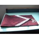 y09839貝殼桌旗-紅色