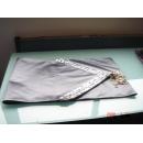 y09841貝殼桌旗-銀灰色