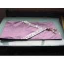 y09843貝殼桌旗-紫色