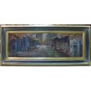 義大利橫式風景畫EK-2318(A款-y09865-108*48cm-含框)