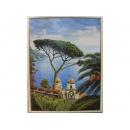 義大利海洋風景版畫EK-3764A(洗白框)(y09878-64*84cm含框)