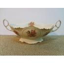 y09902義大利原裝進口陶瓷粉玫瑰水果盤